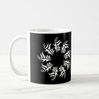 tribal mug 2 black and white