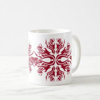 Tribal mug 6 network to over white