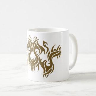 Tribal mug 9 gold to over white