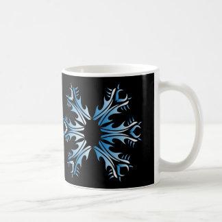 Tribal mug blue and black