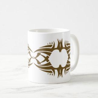 Tribal mug crow gold