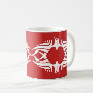 tribal mug crow white to over network
