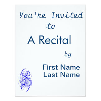 tribal music clef blue.png personalized invite