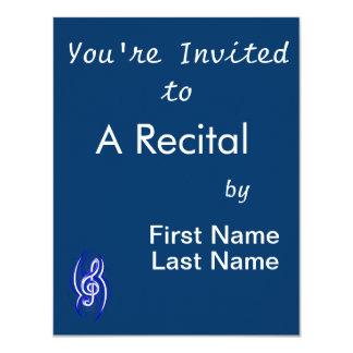 tribal music clef blue.png 11 cm x 14 cm invitation card
