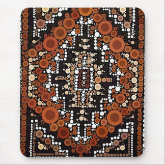 Tribal Native American Earth Tones Mosaic Mouse Pad