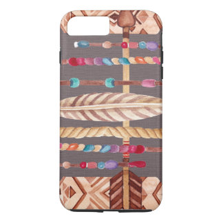 Tribal Native Beads Arrows Rope Pattern Collage iPhone 7 Plus Case