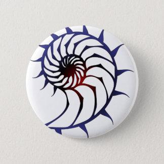 Tribal Nautilus 6 Cm Round Badge