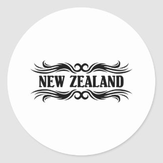 Tribal New Zealand Classic Round Sticker