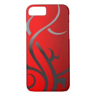 Tribal on Red Custom Phone Case