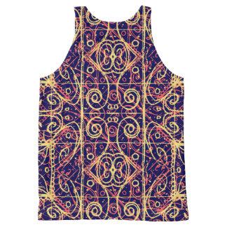 Tribal Ornate Pattern All-Over Print Singlet