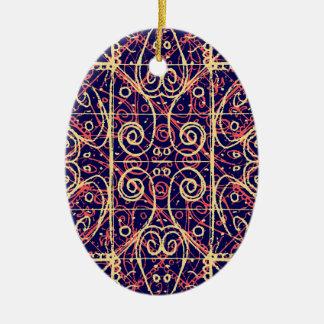 Tribal Ornate Pattern Ceramic Ornament
