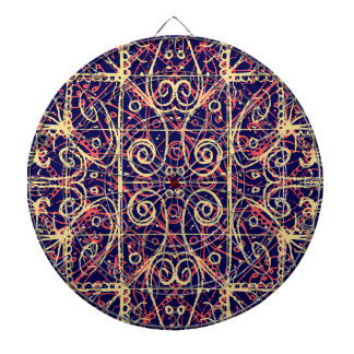 Tribal Ornate Pattern Dartboard