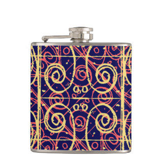 Tribal Ornate Pattern Hip Flask