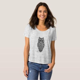 Tribal owl design on Bella+Canvas Boyfriend tshirt