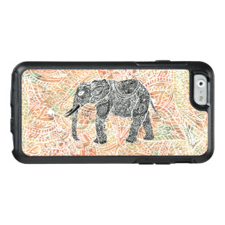 Tribal paisley elephant colorful henna pattern OtterBox iPhone 6/6s case