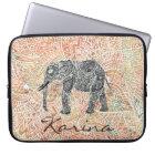 Tribal Paisley Elephant Colourful Henna Pattern Laptop Sleeve