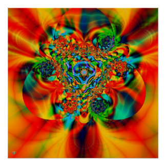 Tribal Passion. poster print fractal race color