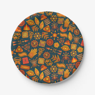 Tribal Pattern 7 Inch Paper Plate