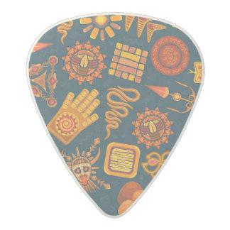 Tribal Pattern Acetal Guitar Pick