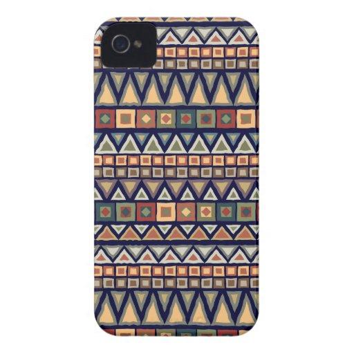 Tribal Pattern Blue Blackberry Bold Case