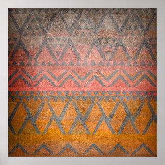 Tribal Pattern Desert Sandstone Texture Ethnic Poster