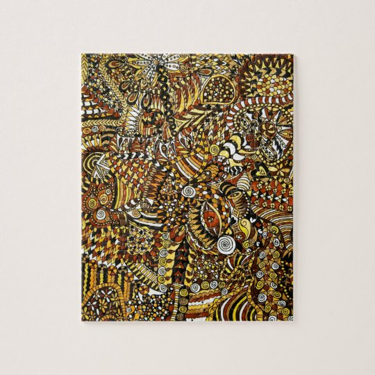Tribal Pattern Jigsaw Puzzle