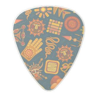 Tribal Pattern Polycarbonate Guitar Pick