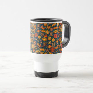 Tribal Pattern Travel Mug