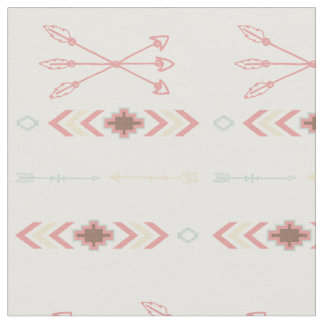 Tribal Peach Fabric