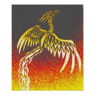 Tribal Phoenix Poster