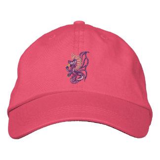 tribal Pink dragon Embroidered Hat