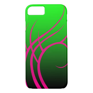 Tribal Pink on Green Custom Phone Case