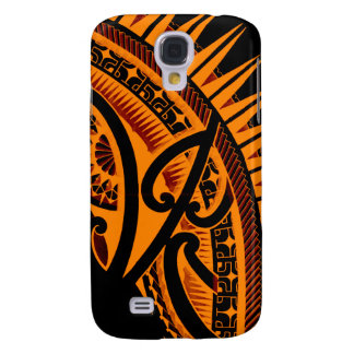 Tribal Polynesian tattoo design handdrawn polyart Galaxy S4 Cases