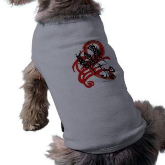 Tribal Raven Pet Cloths Sleeveless Dog Shirt