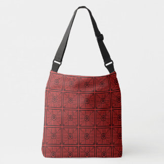 Tribal Red and Black Pattern Crossbody Bag
