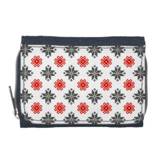 Tribal Red and Grey Wallet