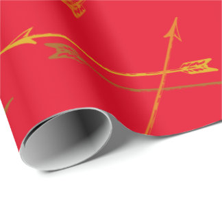 Tribal Red Arrows Wrapping Paper
