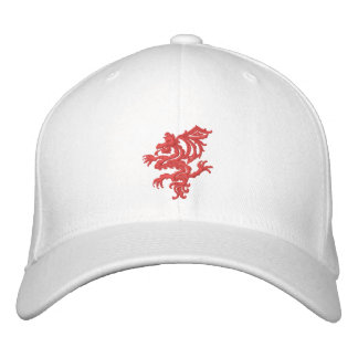 tribal red dragon embroidered baseball caps
