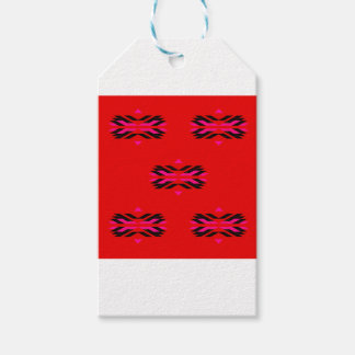 TRIBAL Red Hand drawn Art Gift Tags