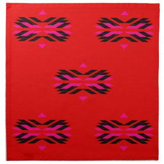 TRIBAL Red Hand drawn Art Napkin