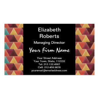 Tribal Retro Geometric Pattern Pack Of Standard Business Cards