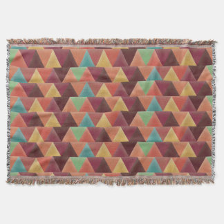 Tribal Retro Geometric Pattern Throw Blanket