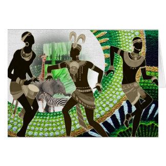 Tribal  Rhythm & Soul Dance Card