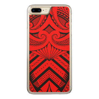 Tribal Samoan tattoo design SBW style Carved iPhone 8 Plus/7 Plus Case