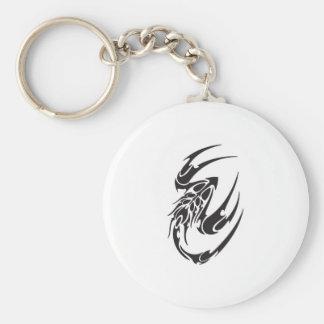 Tribal Scorpion Tattoo Design Basic Round Button Key Ring