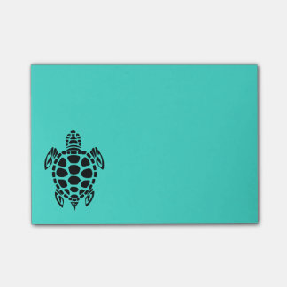 Tribal Sea Turtle Turquoise Post-it Notes
