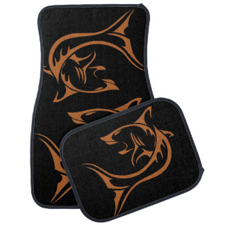 Tribal Shark Car Mat