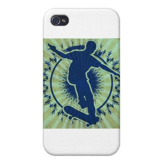 Tribal Skateboarder iPhone 4 Cases