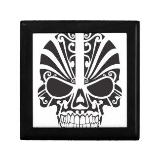 Tribal skull design small square gift box