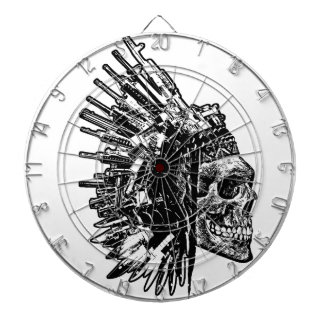 Tribal Skull, Guns and Knives Dart Board